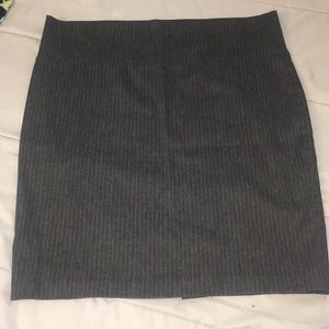 Charcoal w/a hint of white pinstripe pencil skirt